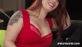 Sexy Redhead Kitten in glasses She loves to fuck
