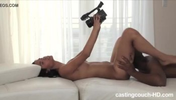 Tanned slut Penny Flame rides on meaty knob in bed
